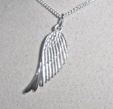 925 Sterling Silber Damen Kette 42 & Anhänger Engelsflügel Engel Flügel + Etui