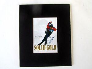 Dan Jansen, Gold Medal Winner Lillehammer Olympics 1994, Autographed photo
