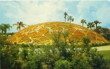 TAMPA FLORIDA BUSCH GARDENS GEODESIC DOME HOME OF EXOTIC BIRDS POSTCARD c1960s
