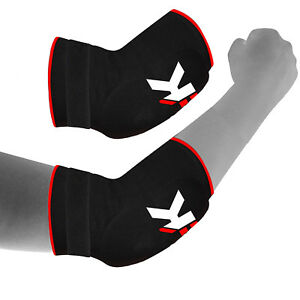 Elbow Pads Protector Brace Support Guards Arm Guard MMA Gym Padded Sports Pain