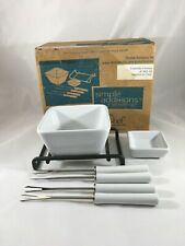 Pampered Chef Simple Additions Fondue Accessory Set #1965 7 Pc Set