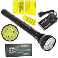 Super power 22000LM 18xXML L2 LED Flashlight lamp 5x26650 Torch +Battery Charger