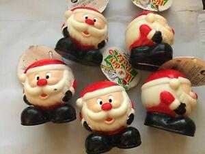 "SPOT 3"" HOLIDAY PET XMAS CHRISTMAS VINYL SANTA BALL LOT OF 5. IMPERFECT SCUFFED"