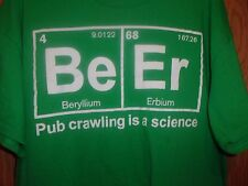 BEER SCIENCE green graphic XL t shirt