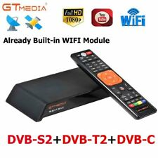 GTMEDIA DVB-S2 DVB-T2 DVB-C Satellite Receiver FTA Built in WiFi 1080P Decoder