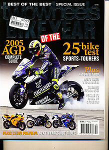 Two Wheels Oct 2005 K1200S Bike of Year Breva V1100ST Street Rod Triumph 955i
