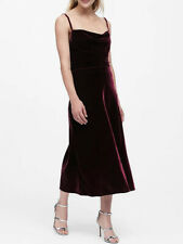 NWT Banana Republic New $98.50 Women Velvet Midi Slip Skirt Size XS, Medium