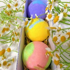 Bath Bombs, 3 Pieces of Natural Essential Oil Aroma Bubble Bath, Bath Bombs Gift