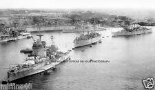 HMS WARSPITE, MALAYA, DEVONSHIRE, SHROPSHIRE & SHEFFIELD  -MALTA 1941-ROYAL NAVY