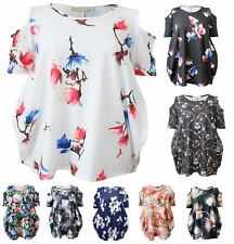 Unbranded Women's Floral Crew Neck Hip Length Tops & Shirts