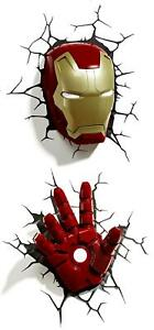 Marvel Iron Man 3D Wall Light Room Decoration