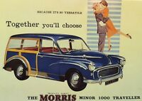 Morris Minor 1000 Traveller Reproduction Postcard New