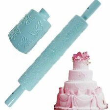 Hot Embossing Rolling Pin Gum Paste Embossing Craft Decorating DIY Tool Mold L89