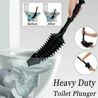 Toilet Plunger Drain Blockages Suction Rubber Grip Bath High Pressure Clean