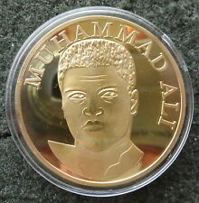 Cassius Clay Muhammad Ali  24K GOLD  PLATED boxing  COIN  40 mm