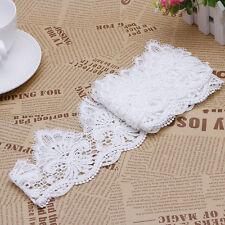 2 Yards Floral White Lace Trim DIY Wedding Dress Veil Sewing Craft Appliques