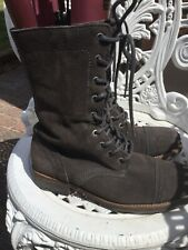 All Saints Shearling Grey/charcoal  Suede/Fur Lined Ladies Boots Uk5/38 Stunning