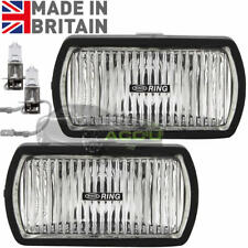 Ring RL023 12v Car 4x4 Van Rectangular Fog Halogen Spot Lamps Lights - Pair
