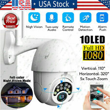 US 1080P HD IP CCTV Camera Waterproof Outdoor Wi-Fi PTZ Security Wireless IR Cam