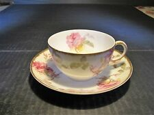 Old Ornate GOA Haviland Limoges Porcelain Cup & Saucer Set