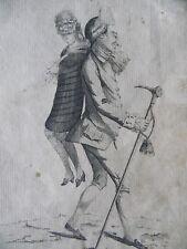 Rare Mary Darly Caricature Portrait The Macaroni Provider c1772