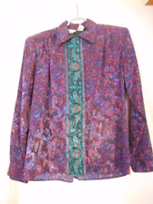 Vintage Multicolor Paisley Print Size 10 Blouse Top long sleeve by Bethany