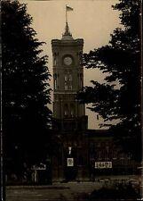 BERLIN Ost Echtfoto 1955 Rathaus Gebäude Strassen Partie schwarz-weiss Karte