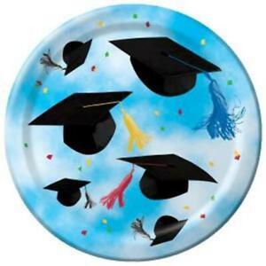 Graduation Cap Toss 9 Inch Paper Plates 8 Per Pack Graduations Party Tableware