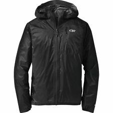 OR Outdoor Research Helium II Rain Packable Jacket Mens Black Storm M MEDIUM NEW