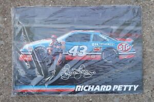 Vintage 1995 NASCAR Richard Petty Oil Treatment Metal Tin Sign