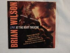 """Brian Wilson """"Live at the Roxy"""" BRAND NEW ADVANCE PROMO ONLY SAMPLER! VERY RARE!"""