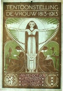 Original vintage poster WOMENS LIFE 100 Y. DUTCH EXPO 1913