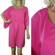 Viscose Round Neck Patternless Shirt Dresses for Women