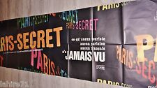 PARIS SECRET  !  affiche cinema geante 90x200cm bandeau promo 1969