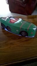 Green Racing Car Biscuit Tin Storage Tin Marks & Spencer Number Plate Has MS 1