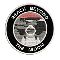 """Reach Beyond The Moon Astronaut 3.5"""" Iron/Sew On Decorative Patch Space Theme"""