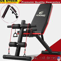 Adjustable Sit Up AB Incline Abs Bench Flat Fly Weight Press Gym Workout Fitness