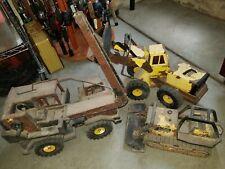 Three,Vintage Tonka Rusty,Toys Trucks Bundle, Construction Vehicles Front Loader