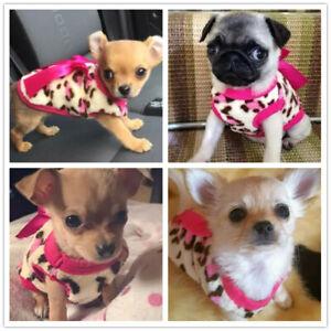 Fleece Hoodie Dog Puppy Pet Clothes Size XXXS XXS XS for Kitten Cat Yorkie