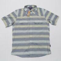 NEW Patagonia Mens Medium Shirt Short Sleeve Snap Button Lightweight Slim Fit