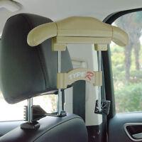 Auto Car Seat Headrest Hanger Holder For Clothes Coat Jacket Suit Beige