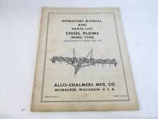Allis Chalmers Chisel Plows Wing Type Operators Manual Amp Parts List