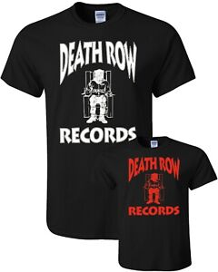 DEATH ROW RECORDS T-SHIRT  Tupac 2Pac Hip Hop Dr. Dre Top S-2XL Snoop Dogg