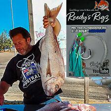 4x Snapper Fishing Rig 6/0 Ultra Rig Uv Flasher Rigs 80lb Leader Paternoster