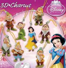 SET 8 Figure BIANCANEVE 7 NANI Disney SNOW WHITE 7 DWARFES Laccetto DANGLERS NEW