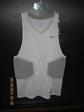 NWT Mens Nike White Elastane Protective Base Layer Dri-Fit Jersey Shirt 2XL