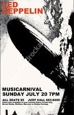 Led Zeppelin 1969 Cleveland Concert Poster