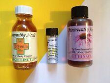 homéopathie toux & Rhumes kit-bryonia SIROP 50ml+remède+échinacée tinc.60ml