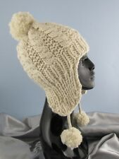 PRINTED INSTRUCTIONS -BIG BOBBLE EASY CABLE TRAPPER HAT KNITTING PATTERN