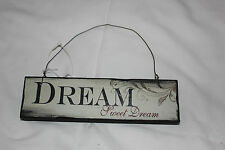 """SMALL WOOD SHABBY CHIC SIGN """"DREAM SWEET DREAM"""""""